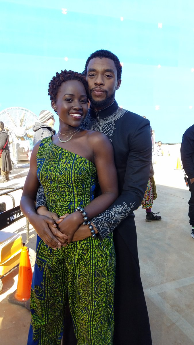When your prom date is literally the king. #TBT @ChadwickBoseman #BlackPanther #BTS #PromKing #WakandaProm