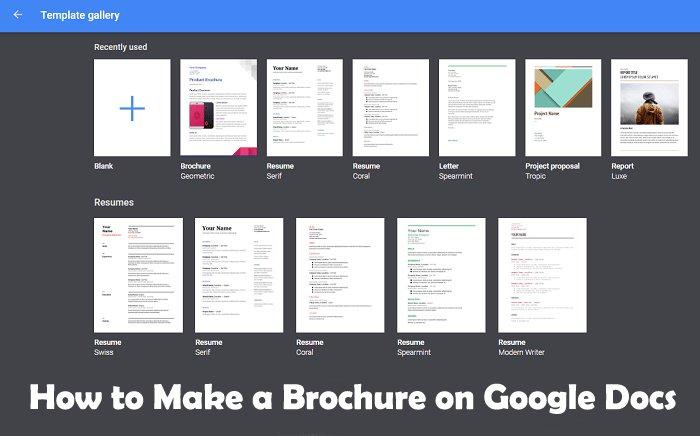 how to make a brochure on google docs