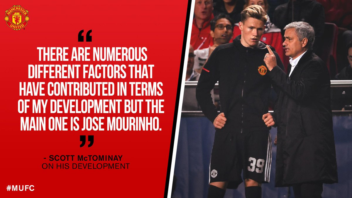 .@McTominay10 has spoken about learning from the boss...  Read more from his interview with #InsideUnited here: manutd.co/KVo