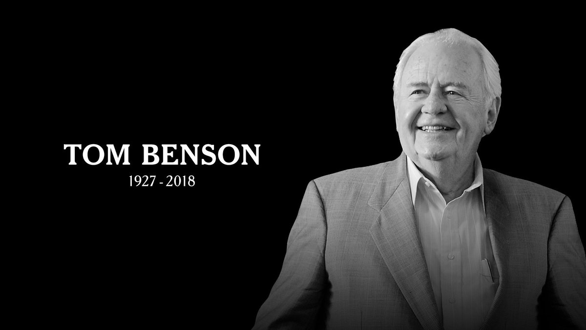 Saints Owner Tom Benson, 90, passed away peacefully today at Ochsner Medical Center with his wife Gayle Marie Benson at his side  https://t.co/gjAIQYKdDw