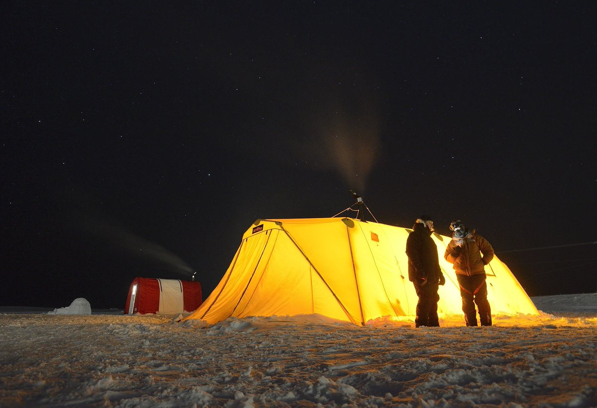 ... to test new tent designs and heating systems in the harsh Arctic conditions in Cambridge Bay Nunavut during #OpNUNALIVUT.pic.twitter.com/tkCkfVm423 & Canadian Forces on Twitter: