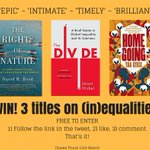 You have until MIDNIGHT to win these three titles on (in)equalities. Their subjects range from the rights of #nature through global #inequality to the echoes of past #slavery.  Full info: https://t.co/MRHS6d8wzW. Pls RT! #WIN