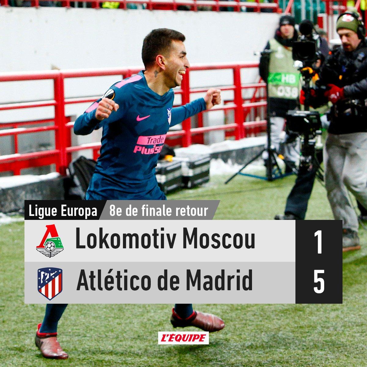 L'Atlético de Madrid est qualifié pour les quarts de finale de la Ligue Europa après sa victoire face au Lokomotiv Moscou https://t.co/DTkERbfgNf