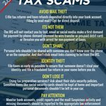 #ScamAlert: Protect yourself, your identity & your money from a #TaxScam this #TaxSeason! #IRS #IdentityTheft #ConsumerProtection