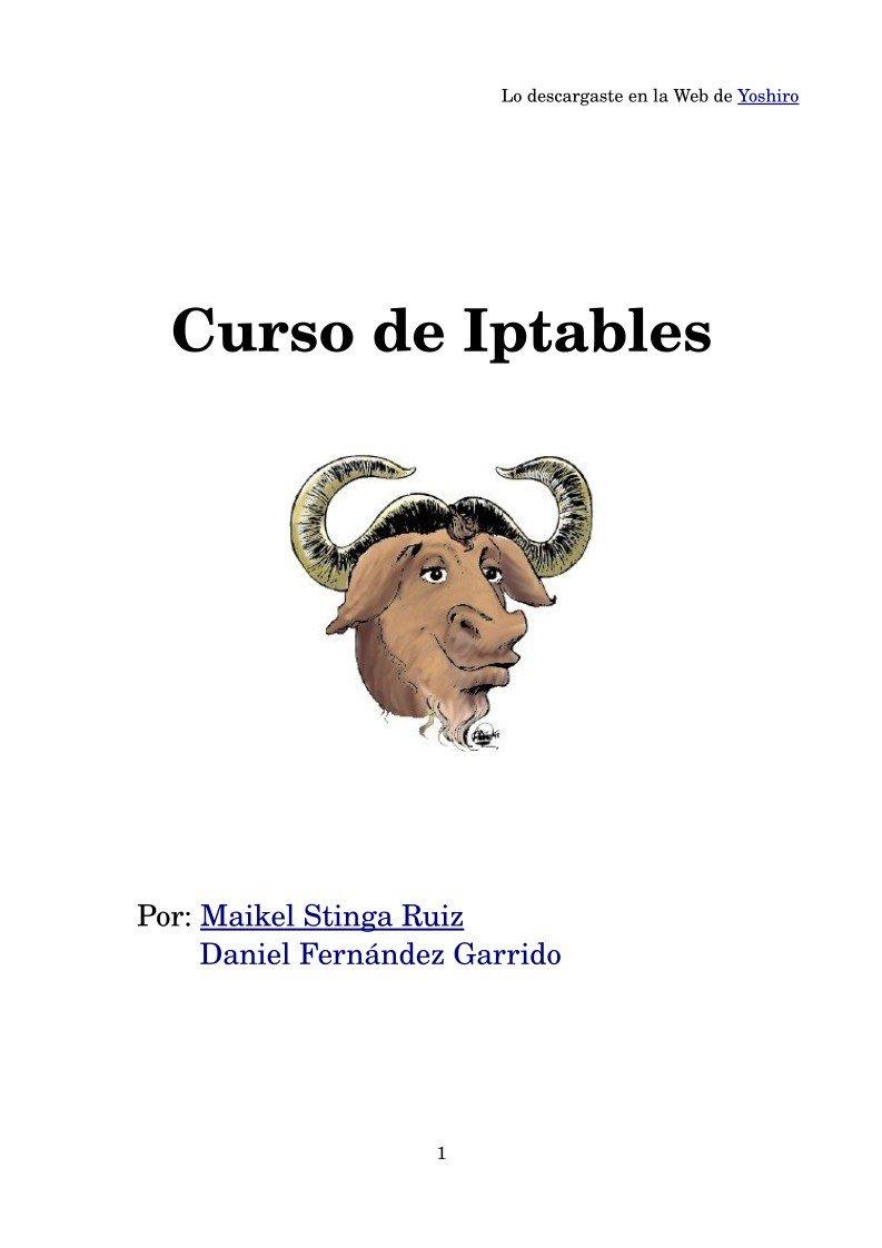 #PDF de #Programación - Curso de Iptable...
