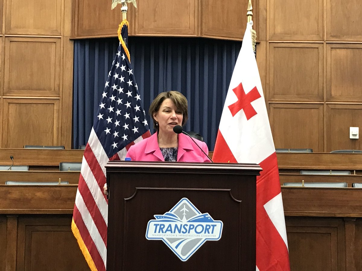 At @AtlanticCouncil event, Senator @amyklobuchar recounts her visit to #Georgia with President @MargvelashviliG — a trip which underscored the U.S. commitment to our bilateral relationship and the goal of a #Europe whole, free, and at peace.