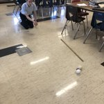 Image for the Tweet beginning: 8th grade science exploring momentum