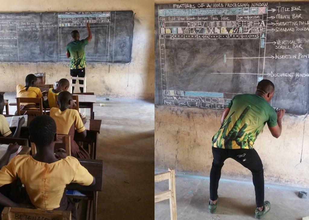 Teacher in Ghana who used blackboard to explain computers gets some Microsoft love https://t.co/mM3fIlXiVr