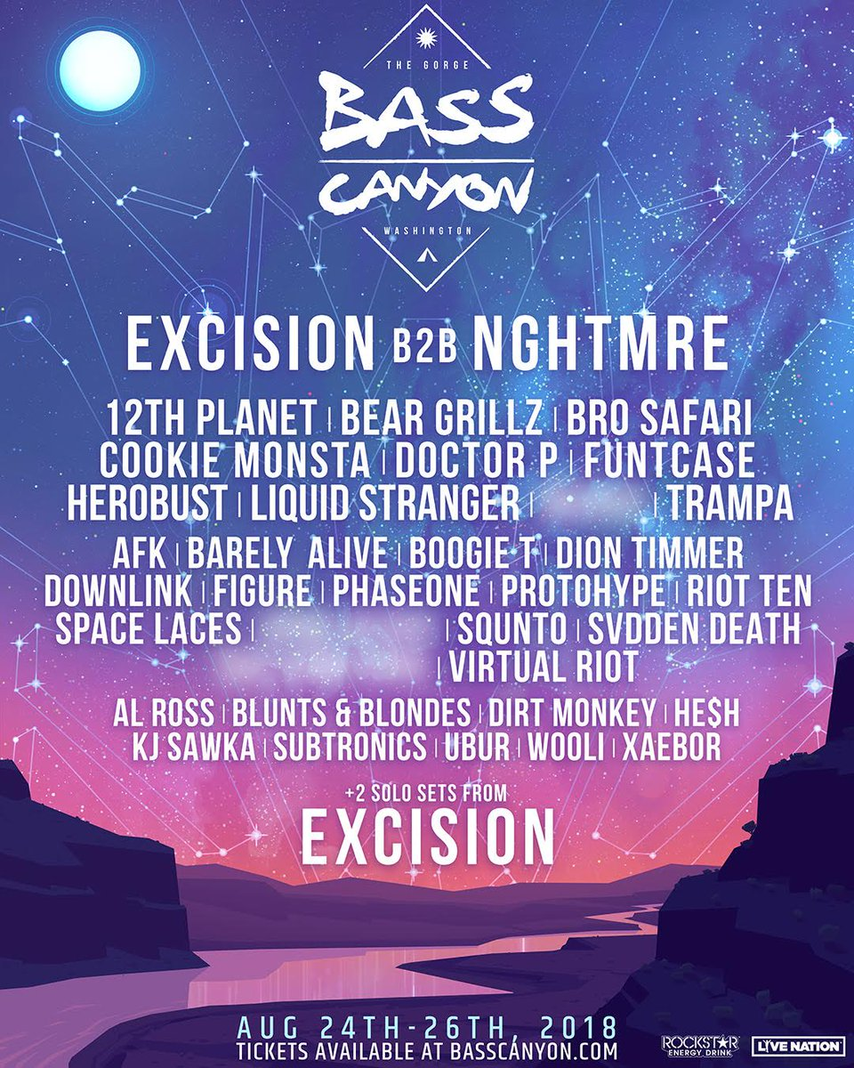 Bass Canyon On Twitter We Re Excited To Announce The Inaugural