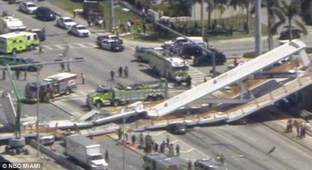 Varios muertos y atrapados tras el derrumbe de un puente peatonal en Florida DYWhvaUV4AAE3Da
