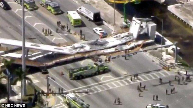 Varios muertos y atrapados tras el derrumbe de un puente peatonal en Florida DYWhvpfVwAAzxIz