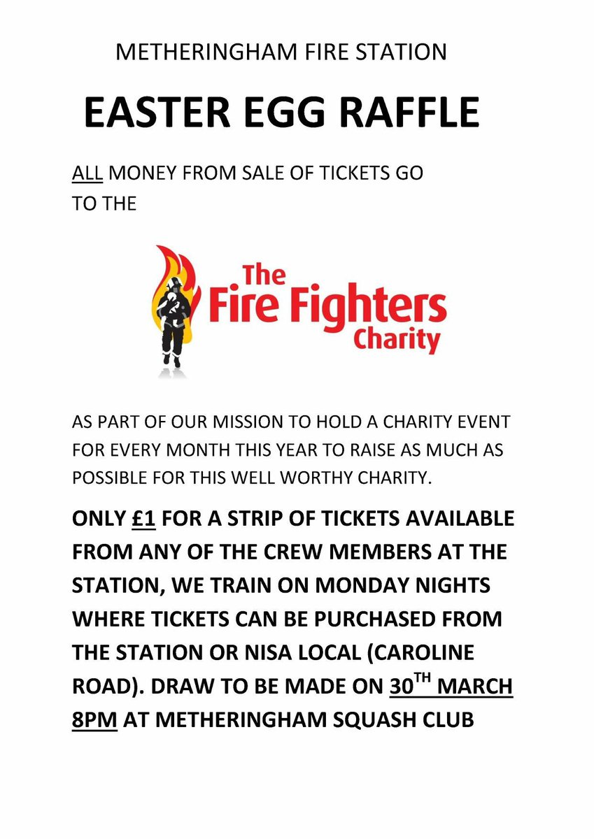 metheringham fire on twitter we are holding a raffle to raise money for firefighters999 please like and retweet lincsfirerescue