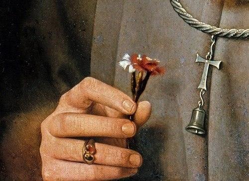 Un microcosmo di emozioni..Dettagli di Jan van Eyck.. #arte