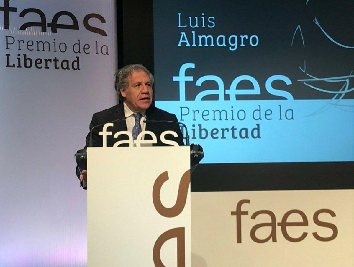 Comparto mis palabras hoy en la entrega del premio FAES de la Libertad. Agradezco al ex Presidente José María Aznar y  @FundacionFaesa  por este reconocimientohttps://t.co/AB2Jaa4gPn