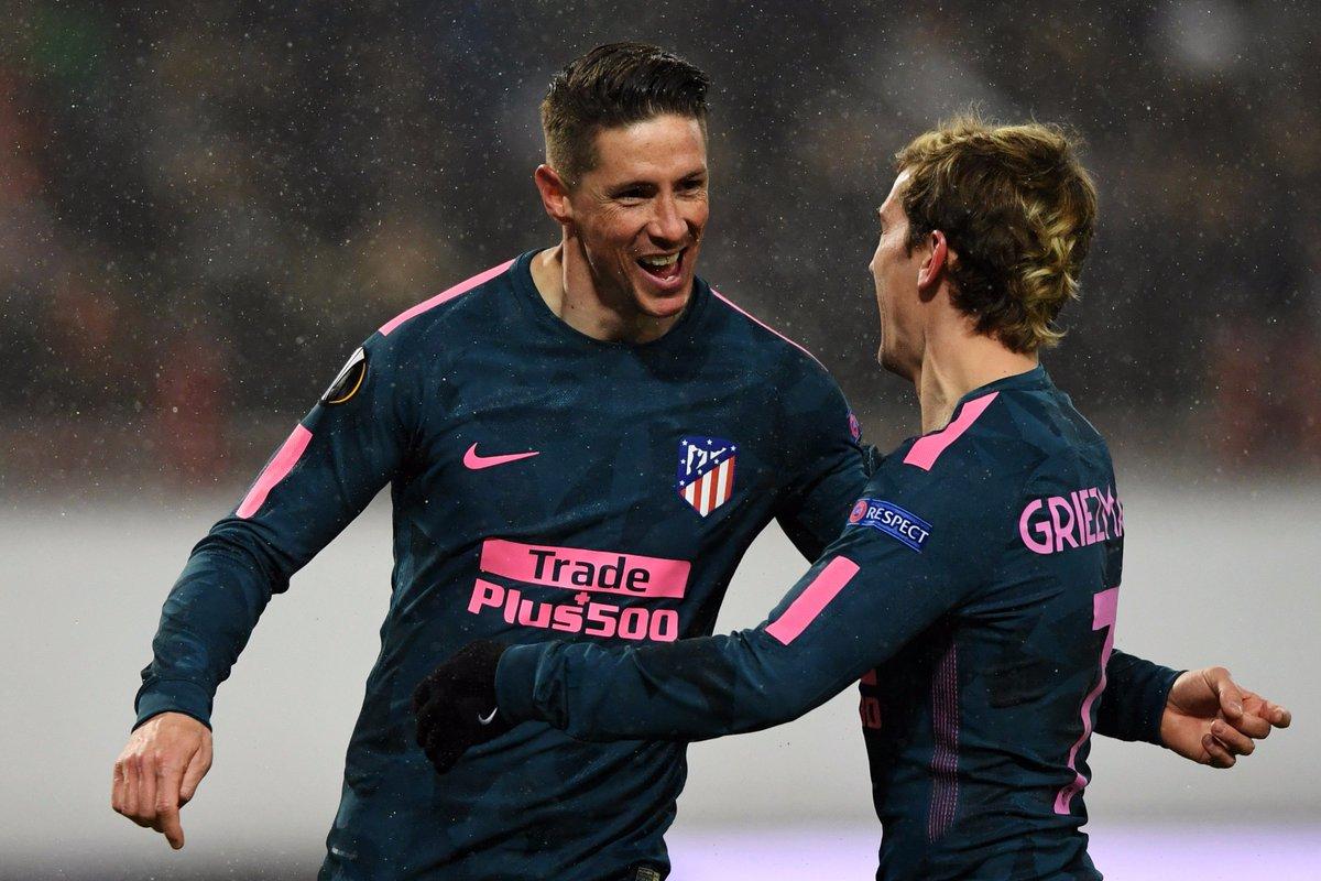 #FOOTBALL  L'Atletico Madrid est la première équipe qualifiée pour les quarts de finale de la Ligue Europa !   Victoire 1-5 sur le terrain du Lokomotiv Moscou (1-5) avec un doublé de Fernando Torres !