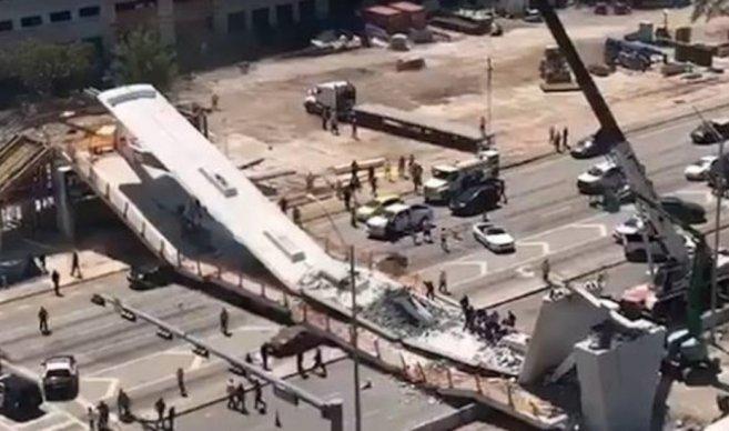 Varios muertos tras derrumbe de un puente sobre carretera de Miami https://t.co/LHKBQ35PXF https://t.co/T6HobTx2YS
