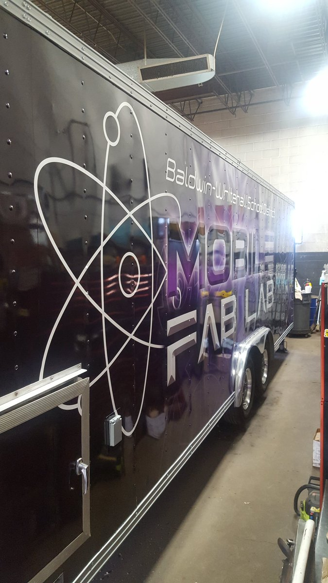 Just a little sneak peek of the BW Mobile Fab Lab!!  If you like what you see, be sure to come out to the Family Steam Night on Tuesday at HMS.  The Mobile Lab will be there and operational.
