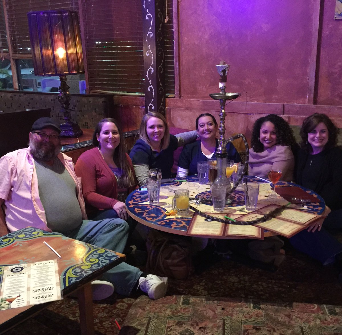 Me and Abby with some of her coworkers at Cafe Istanbul kennesaw.😃
