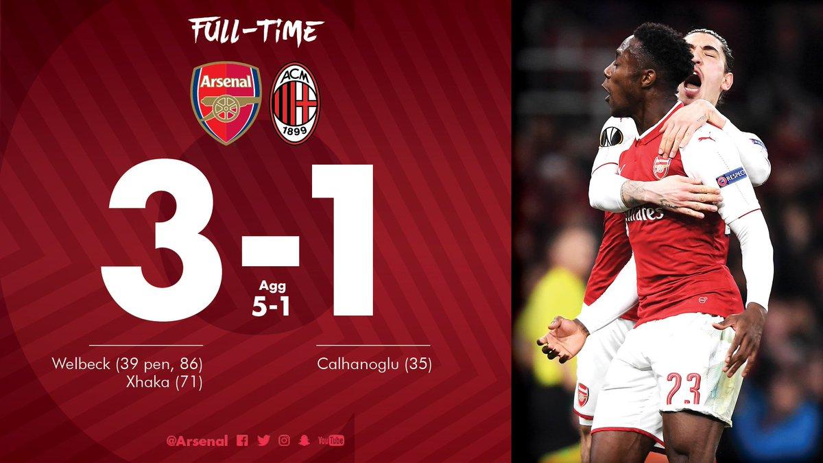 Chấm điểm kết quả Arsenal 3-1 AC Milan