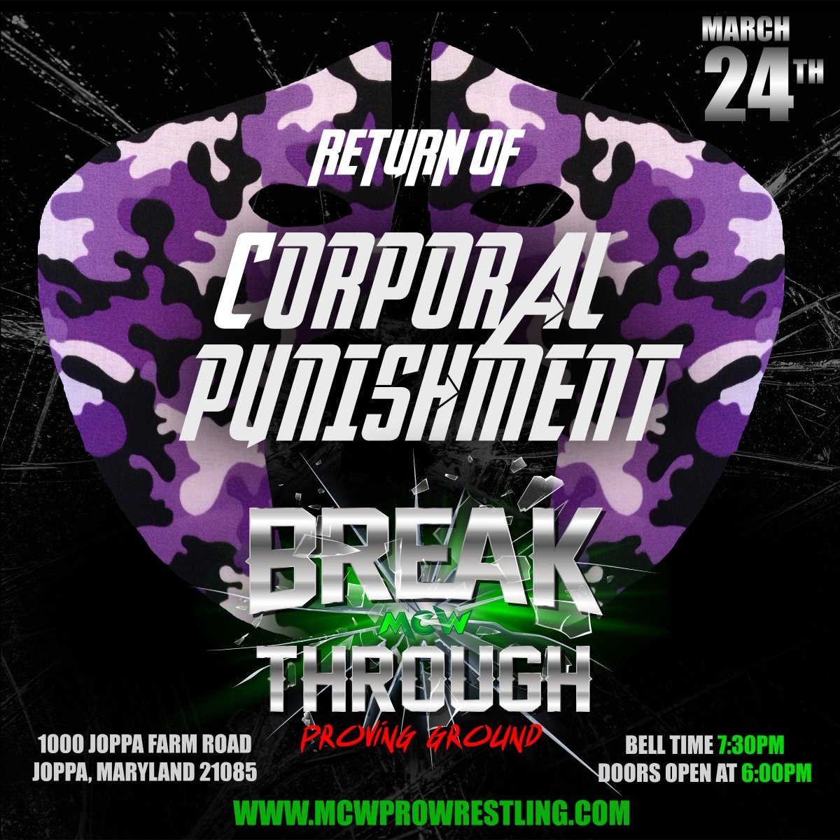 After stating that he has divested his ownership stake in #MCW, Dan McDevitt aka Corporal Punishment has vowed to dust off the camouflage 1 last time!  After an 11 year absence, The Corporal makes his return to active competition on Sat 3/24 at #MCWBreakthrough: Proving Ground!<br>http://pic.twitter.com/wOje9nTSrT