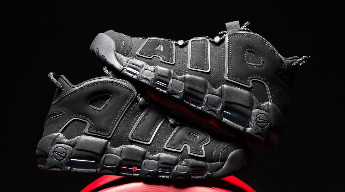 "Court Classics | #Nike Air More Uptempo ""Black Reflective"" drops March 17th  
