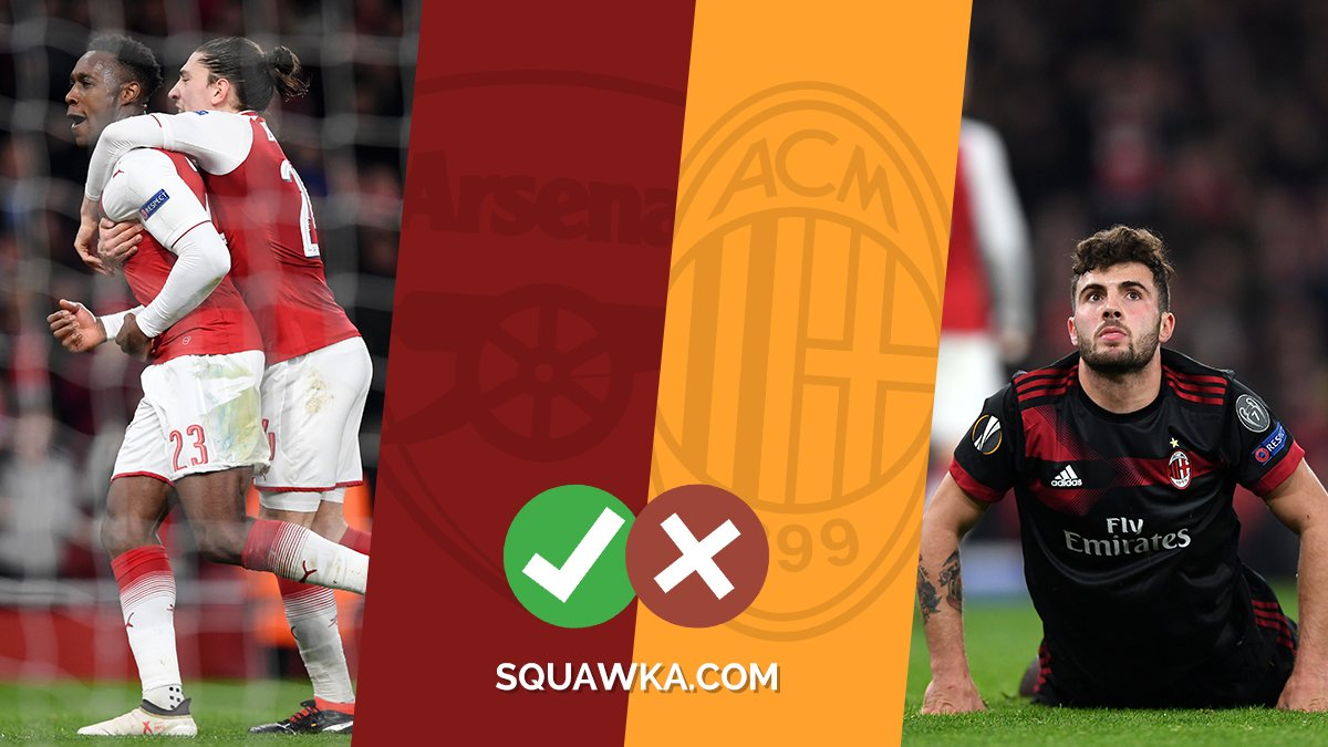The winners and losers from Arsenals Europa League win over AC Milan - sqwk.at/ArsACWin  3 winners 👍 3 losers 👎