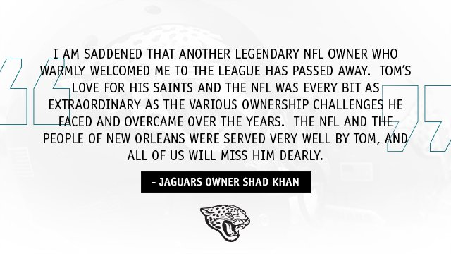 Statement from Jaguars Owner Shad Khan o...