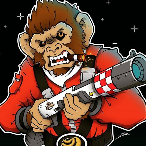 #fanart: Pogo the Monkey gone beast mode, by Brazilian artist @H8or  https://t.co/4PUswRdS0M