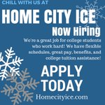 Looking for a job while home for the summer or staying up at school and want to work? Apply at Home city ice today! @CMUniversity #CMU @michiganstateu #msu #collegejobs #workandchill @HomeCityIceJobs #summerjobs