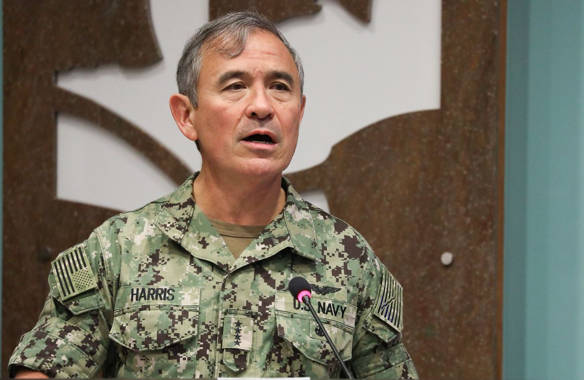 The U.S. commander in the Pacific, Harry Harris, on North Korea: 'We Have No Bloody Nose Strategy'  https://t.co/T5sOSoo5co
