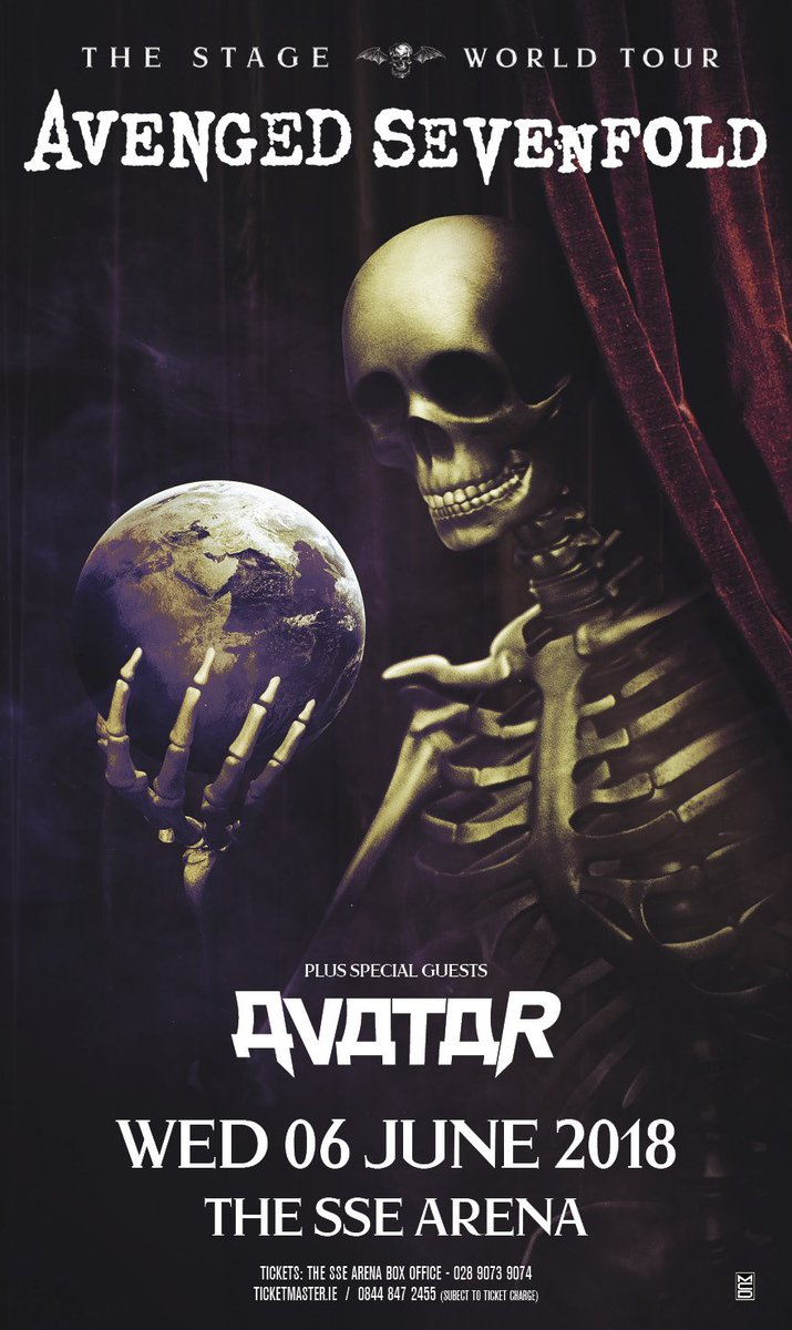 Avenged Sevenfold On Twitter Belfast Please Welcome AVATARmetal To TheStageWorldTour 6th June Tickets Available Here Tco RUvqKwavQ6