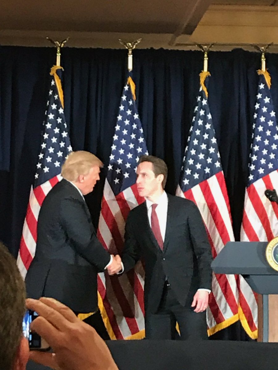 Honored to appear with @realDonaldTrump at event supporting @HawleyMO for Senate. We need Josh Hawley in Washington to help drive conservative agenda. With Supreme Court picks potentially in the offing, we need more Senate Rs! #HawleyforSenate #MOSen