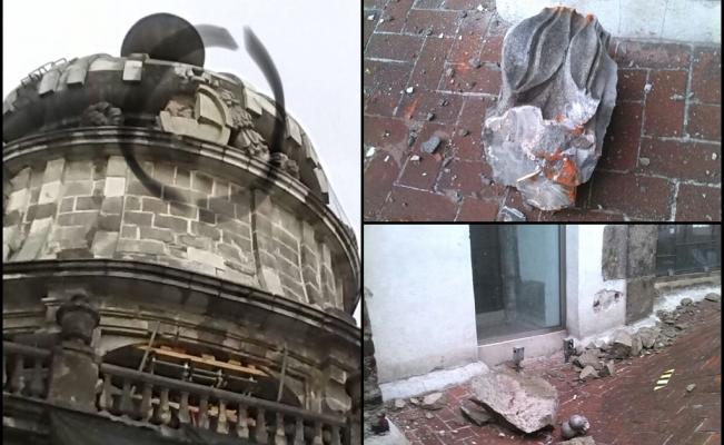 Cae rayo en Catedral Metropolitana y daña una de sus cúpulas — FOTOS