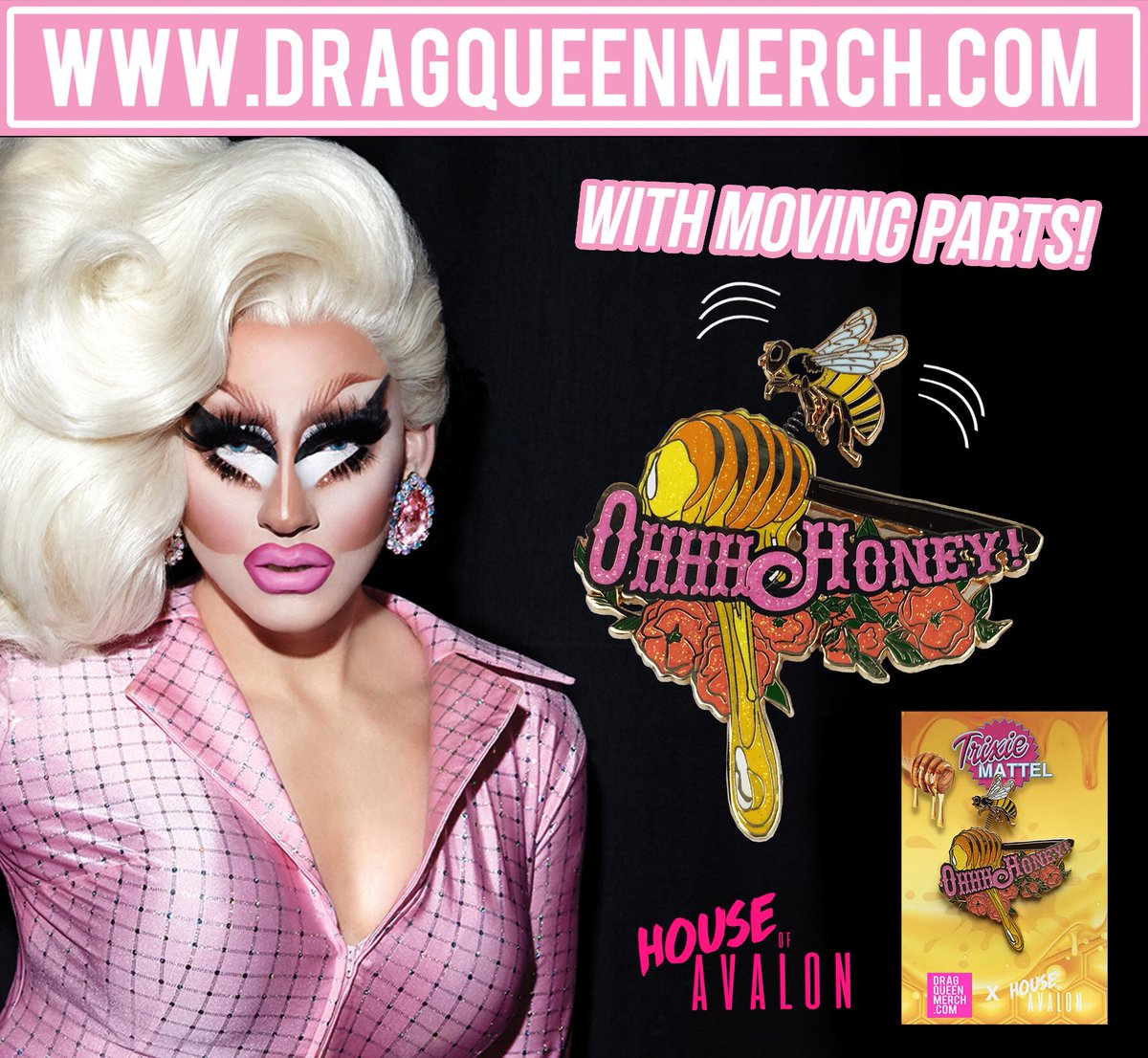 Oh Honey! Due to an inventory error this @trixiemattel enamel Pin showed out of stock tonight but we have some left and it's live again. This item will be sold out again by Saturday. Snag it while you can! dragqueenmerch.com