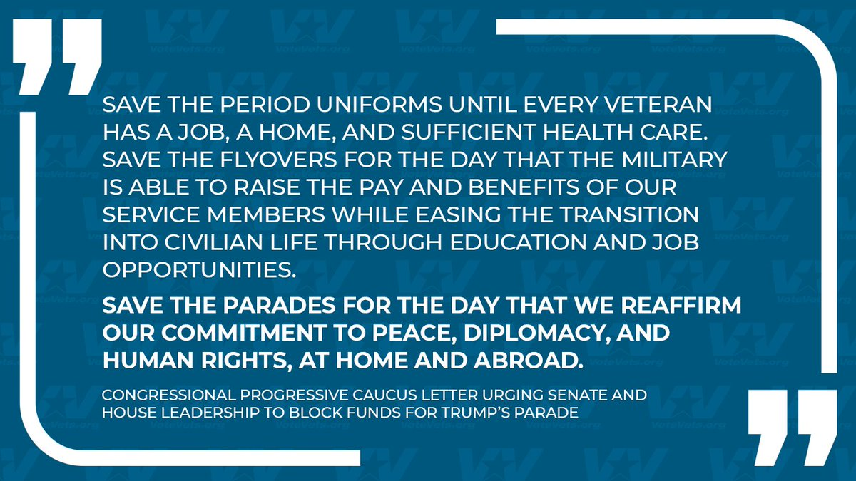 We couldn't agree more, @USProgressives. #NoToTheParade