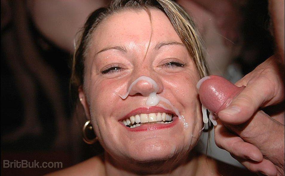 Facial spunk target vids