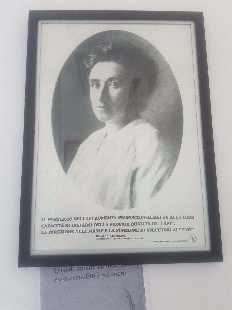 #quadriUfficio milanese. Rosa Luxemburg La dignità in questo paese, troppo spesso sta appesa alle pareti.  - Ukustom