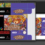 """I'm making a series of #snes Repros for my personal collection. First is the unreleased Ganparu: Gunman's Proof. I'm designing my own """"Super Famicom Collection"""" series, lot's of fun. Here's a WIP of my box, illustration by jmatchead on DeviantArt, logo etc by me"""