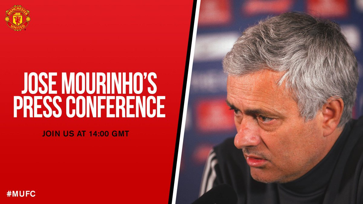 Its @EmiratesFACup press conference day - join us from 14:00 GMT for Jose Mourinhos thoughts ahead of #MUFC v Brighton.