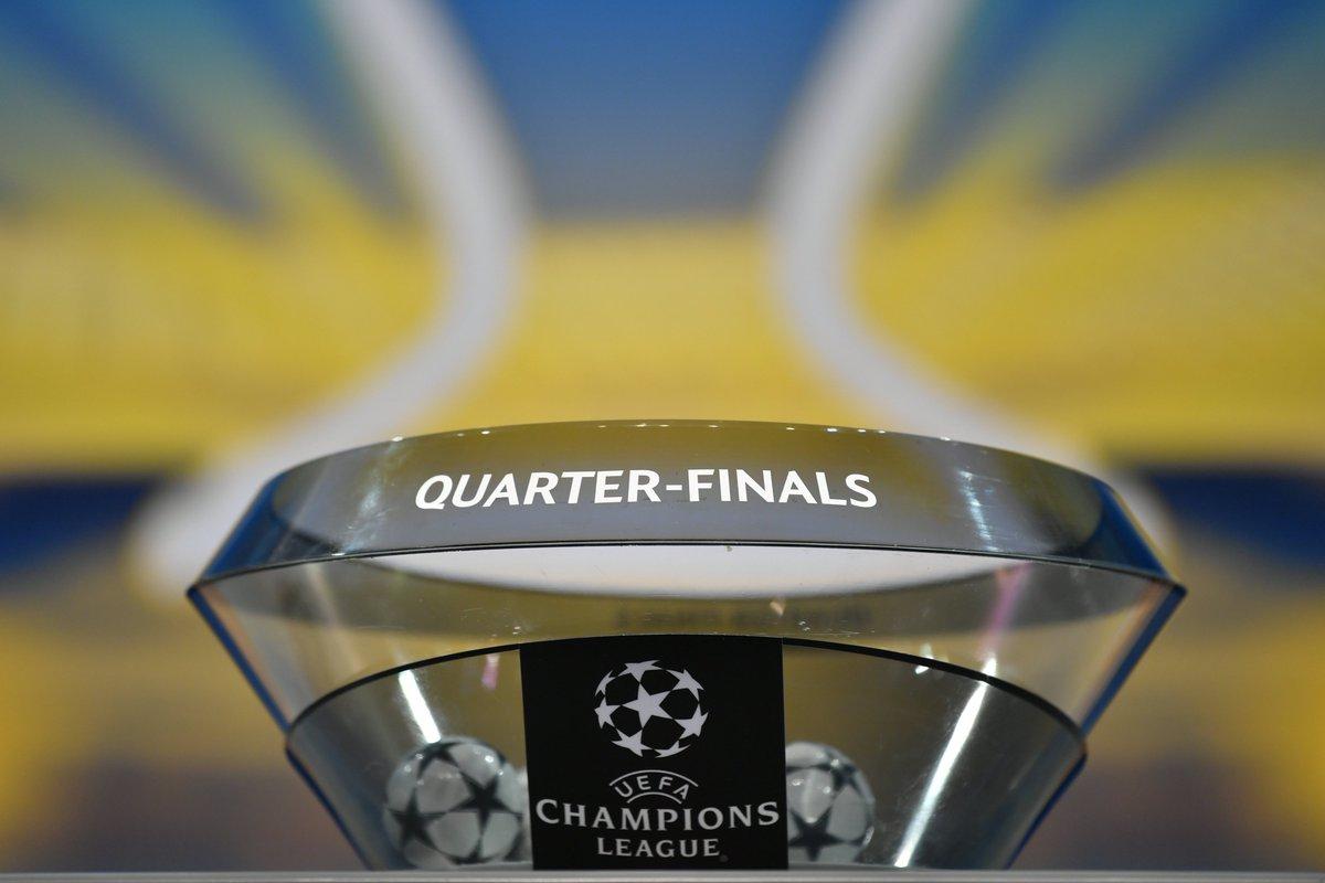 Il quadro completo dei Quarti di Finale di @ChampionsLeague:   @FCBarcelona 🆚 @OfficialASRoma  @SevillaFC 🆚 @FCBayern  Juventus 🆚 @realmadrid  @LFC 🆚 @ManCity  #UCLDraw