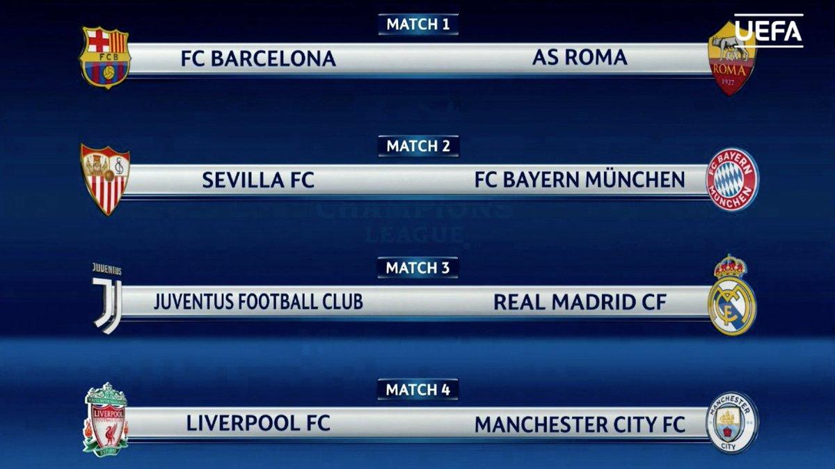 Los cuartos de la ChampionsLeague: https...