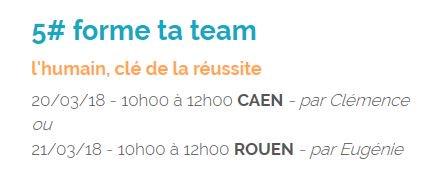 20 et 21 mars, forme ta #team ! Savoir s'entourer #compétences #complémentarités #OuiMaisAvecQui #WorkshopsByNI https://t.co/RNNNHEB1l2