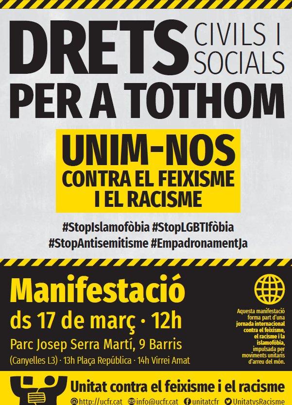 provar Twitter Mitjans - ✊🏾📢 Avui en veiem a la concentració de #NouBarris per dir prou al #Racisme. #StopIslamofòbia #StopLGTBIfòbia #StopAntisemitisme https://t.co/ENDe1IDSG0