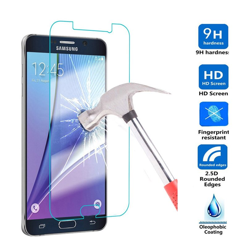 Screen Protector For Samsung Galaxy A3 A5 A7 J3 J7 2017 A320 A520 A720 Temper...