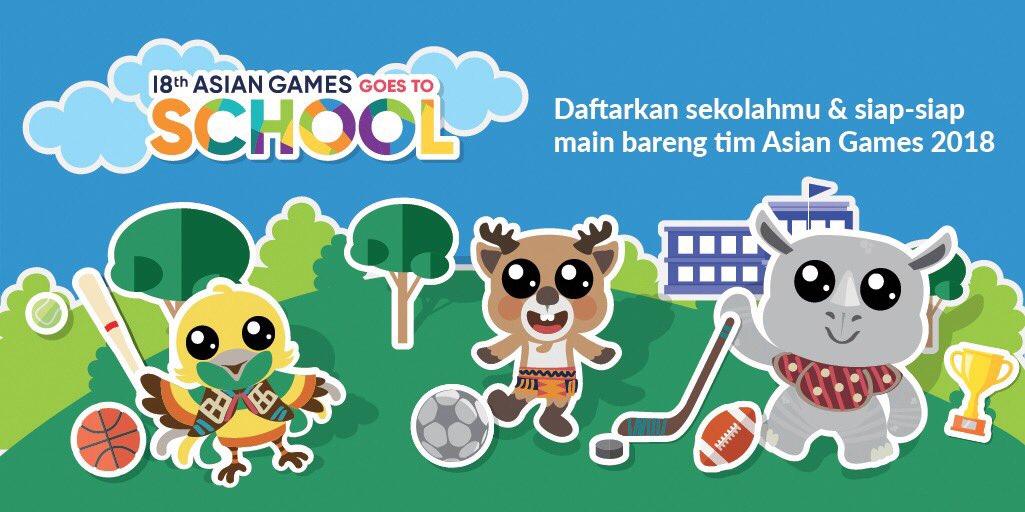 Yuk Daftarkan Sekolahmu Untuk Jenjang Sd Atau Smp Dalam Asian Games  Goes To School Di Sini Asiangames Id Goestoschool Sebelum Tanggal