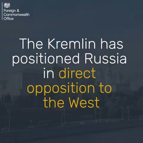 The Kremlin has positioned Russia in direct opposition to the West, acting to destabilise the international rules-based system