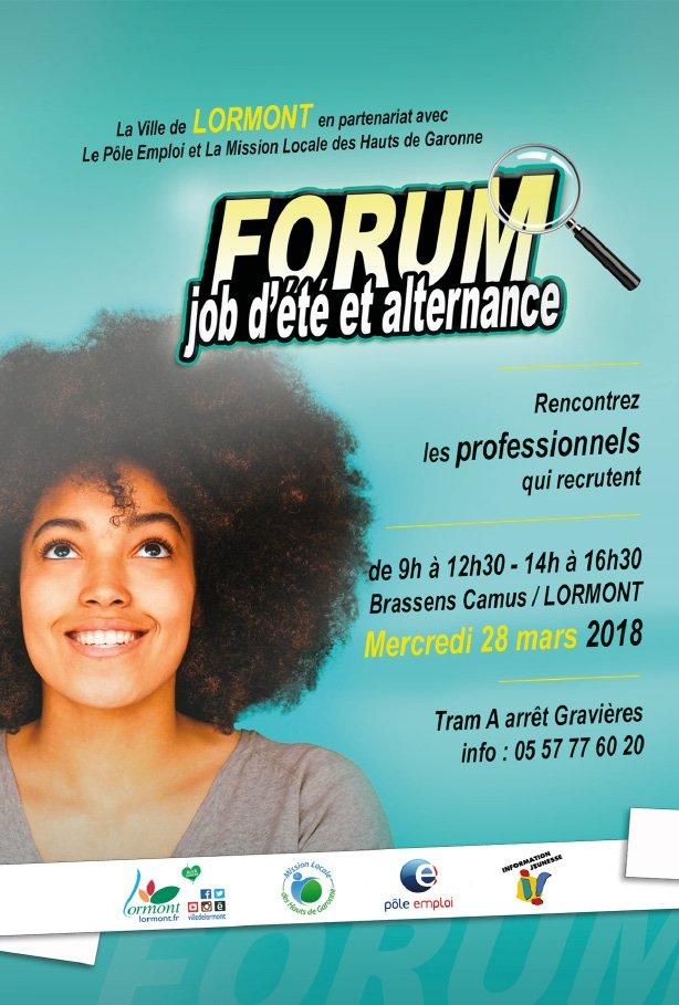 Rappel : Le forum des #jobs d'été et de l'alternance, c'est mercredi 28 mars à #Lormont. L'occasion de rencontrer des #recruteurs potentiels. Rendez-vous à #BrassensCamus dès 9h ! Entrée libre. Plus d'infos sur lormont.fr/agenda-133/job… https://t.co/Hv5E3qO8Ju
