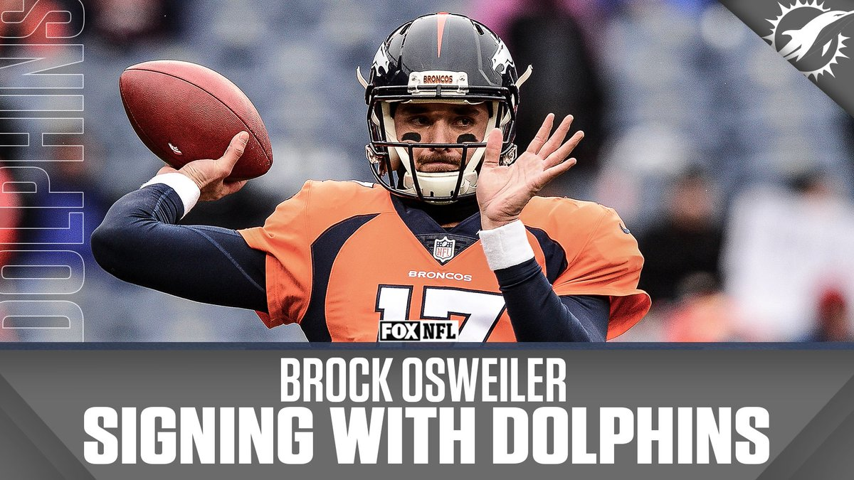 The Dolphins are signing free agent QB Brock Osweiler. (via Multiple Reports)