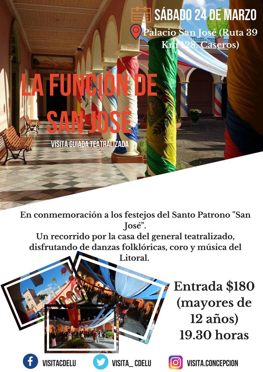 Sábado 24 #LaFunciónDeSanJosé 💂♂️🎶 en conmemoración al Santo Patrono ✝ Palacio San José 🏛 #visitáConcepción 🌇