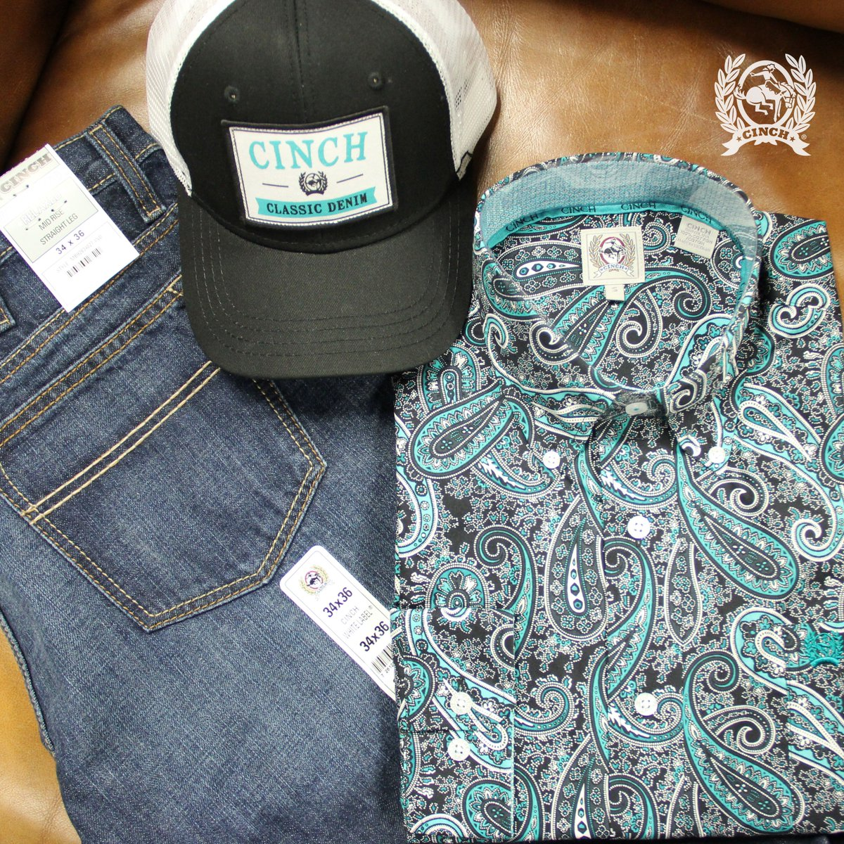 7dfa73b112f Embed Tweet. Happy Friday! You re sure to stand out in a crowd in this bold  new paisley print Classic Fit CINCH shirt. To shop this new style or to  find a ...